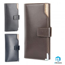 Men's Black Casual Korean Long Paragraph Leather Wallet