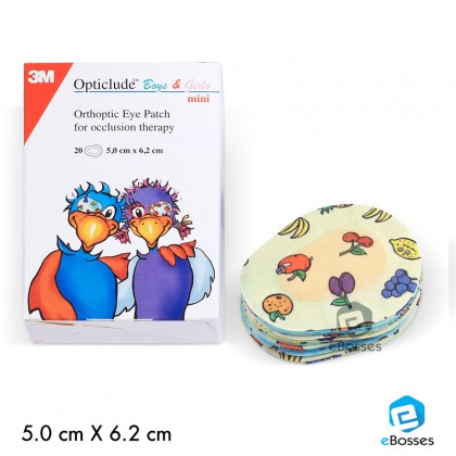 3M Opticlude Boys and Girls Maxi Lazy Eye Patching (20 Per Box)