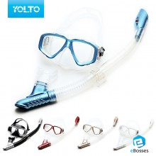 Snorkeling Sets With Anti-Fog Myopic Diving Mirror Breathing Tube