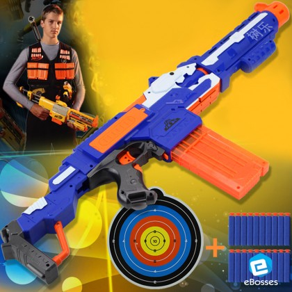 Electric Sub-Machine Soft Bullet Toy Gun with 20 Darts Refill