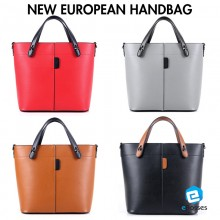 New European Simple Color Women Handbag