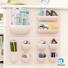 1 Set Korean Style Seamless Wall Storage Box Rack