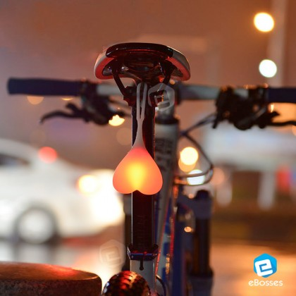 Creative Night Riding Bicycle Light Waterproof Lamp heart Design