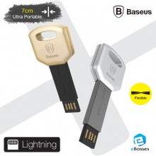[Ready Stock ]BASEUS Turn Series 7cm Key Chain Portable Mini Lightning USB Cable iPhone iPad