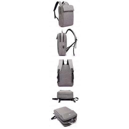 15.6inch Men Women Unisex Large Capacity Laptop Backpack Nylon Business Knapsack