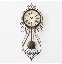 European Creative Swing Wall Clock Iron Metal