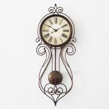 European Creative Swing Wall Clock Iron Metal