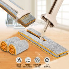 New Double Sided Self Wringing and Dewatering Microfiber Fabric Flat Mop