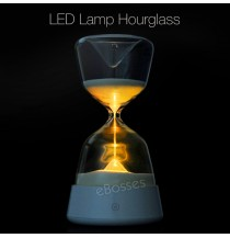 LED Hourglass Sand Glass Night Light Colour Bedroom Lamp Sleep Warm Light Decor
