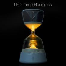 LED Hourglass Sand Glass Night Light Colour Bedroom Lamp Sleep Warm Light Decor