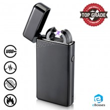 TOP GRADE USB Electric Dual Arc Metal Flameless Rechargeable Windproof Lighter