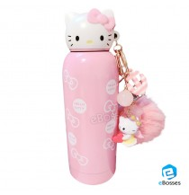Hello Kitty Stainless Bottle Tumbler Insulation Cup 280ml Cold Pink Sanrio Japan