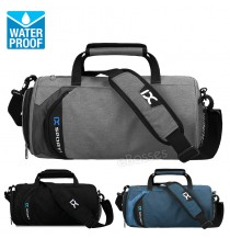 20L Gym Bag IX Sport  with Shoe Compartment Men Duffel Bag, Medium, Black