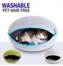 Nature Egg Shape Cozy Pet Cave Dog Puppy Cat Kennel House Bed