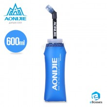 AONIJIE 600ml Foldable Soft Flask TPU Outdoor Sports Running Water Bottle