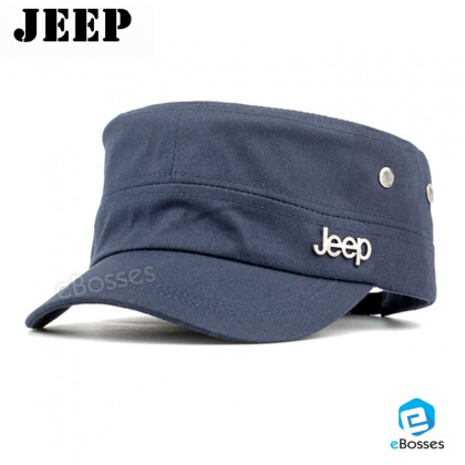 Jeep Cadet Flat Top Hats Adjustable Army Military Castro Snapback Caps