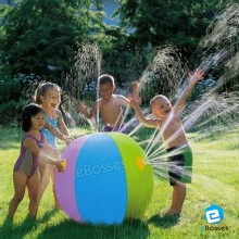 60CM Inflatable Water Spray Ball Children's Pool Summer Outdoor Beach Float Toy Fun