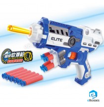 Blaster Gun with Foam Dart Elite Bullets and Double Clips for Outdoor