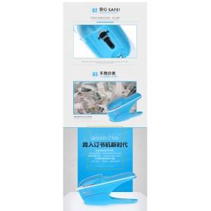New Submarine Stapleless Stapler, Environmental Protection Staple Free Stapler, 7-9 Sheet Capacity