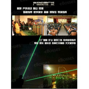 2 IN 1 LED Laser Light Pointer and Flameless Lighter Windproof USB Rechargeable