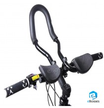 Adjustable MTB Bike Rest Handlebar Road/Mountain Bicycle Handbar for Rest Aluminum Alloy Aero Bar Black