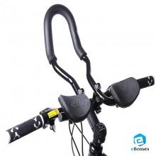 Adjustable MTB Bike Rest Handlebar Road/Mountain Bicycle Handbar for Rest Aluminum Alloy Aero Bar Black