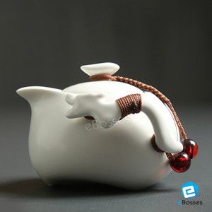Tea Talent Chinese & Japanese Portable Travel Kungfu Tea Set - Porcelain Teapot & Teacups with Handbag,
