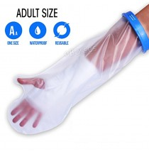 Waterproof Cast Cover For Shower & Bath - Adult Arm. Reusable 100% Sealed Water Protector Keeps Casts & Bandages Dry