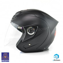 Space Crown Helmet Phoenix 5 with Adjustable Functional Air Vents Shield, Matt Black (PN-02)