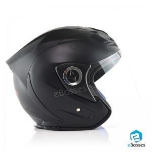 Space Crown Helmet Phoenix 5 with Adjustable Functional Air Vents Shield, Matt Black (PN-02)