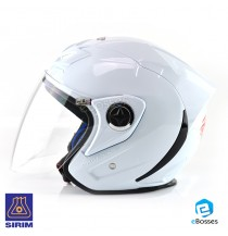 Space Crown Helmet Phoenix 5 with Adjustable Functional Air Vents Shield, White (PN-05)