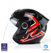 Open Face Helmet Phoenix 5 STK with Adjustable Functional Air Vents Shield (STK02)