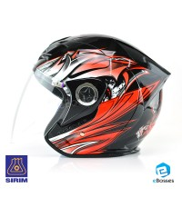 Open Face Helmet Phoenix 5 STK with Adjustable Functional Air Vents Shield (STK03)