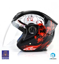Open Face Helmet Phoenix 5 STK with Adjustable Functional Air Vents Shield (STK04)
