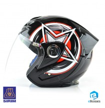Open Face Helmet Phoenix 5 STK with Adjustable Functional Air Vents Shield (STK05)
