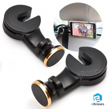 Car Multi-unction Bracket Hook Magnet Mobile Phone Bracket (2 Units)