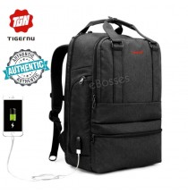 Tigernu B3243 USB Port 26L Leisure Backpack Laptop Bag (Black/Grey)