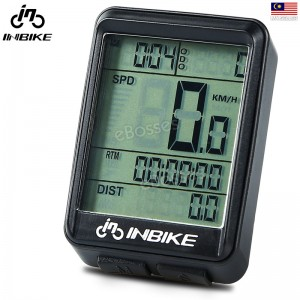 INBIKE Bicycle Computer Waterproof Wireless LCD Odometer Bicycle Speedometer Backlight