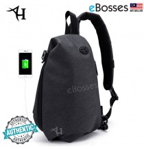 Sling iPad Bag Casual Crossbody Leisure Messenger Shoulder USB Bag