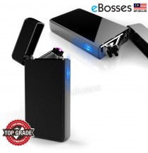 Dual Arc Plasma Lighter USB Rechargeable Windproof Flameless Butane Free Electric Lighter for Cigar,Cigarette,Candle