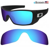 eBosses Polarized Replacement Lenses for Oakley Batwolf - Ice Blue