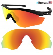 eBosses Polarized Replacement Lenses for Oakley M2 Sunglasses - Fire Red