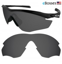eBosses Polarized Replacement Lenses for Oakley M2 Sunglasses - Solid Black