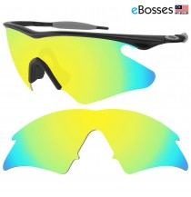 eBosses Polarized Replacement Lenses for Oakley M Frame Heater - Gold Green