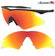 eBosses Polarized Replacement Lenses for Oakley M Frame Heater - Fire Red