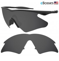 eBosses Polarized Replacement Lenses for Oakley M Frame Heater - Solid Black