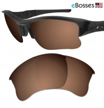eBosses Polarized Replacement Lenses for Oakley Flak Jacket XLJ - Earth Brown
