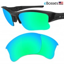 eBosses Polarized Replacement Lenses for Oakley Flak Jacket XLJ - Emarald Green