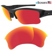 eBosses Polarized Replacement Lenses for Oakley Flak Jacket XLJ - Fire Red