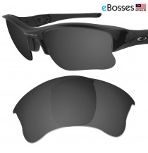 eBosses Polarized Replacement Lenses for Oakley Flak Jacket XLJ - Solid Black